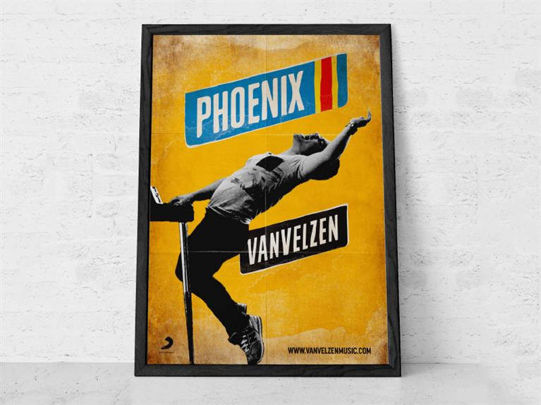 Artwork ontwerp VanVelzen Single 'Phoenix'