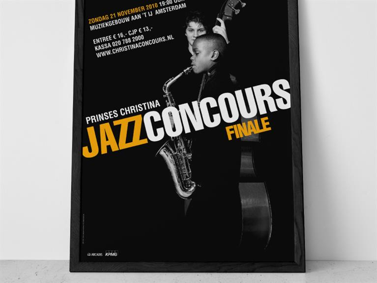 Affiche ontwerp / poster design Prinses Christina Jazz Concours